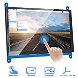 MAKEASY Écran raspberry pi Écran Tactile Capacitif LCD Résolution de 1024 x 600 Moniteur HDMI 7 Pouces pour Raspberry Pi 3 2 1 Modèle B B+ A+ BeagleBone Black Banane Pi/Pro