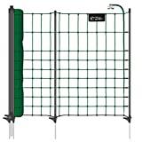 VOSS.PET Filet de clôture 12 m petNET pour Petits Animaux, Lapins, 65 cm, 9 piquets, 1 Pointe, Coloris Vert
