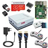 V-Kits Raspberry Pi 3 Model B+ (B Plus) Kit de Jeux rétro Arcade avec 2 contrôleurs USB Classiques