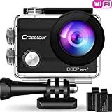 Crosstour   CT7000  Caméra Sport 1080P Full HD Wi-FI Étanche 30M 12MP 170 °Grand-Angle 2 Pouces LCD avec 2 Batteries Rechargeables 1050mAh et 18 Accessoires