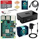 LABISTS ABOX Raspberry Pi 3 Modèle B Plus (3 B+) Starter Kit [ Version Dernière ] 32 Go Classe 10 Micro SD Carte, 5V 3A Alimentation Interrupteur Marche/Arrêt Boîtier Noir