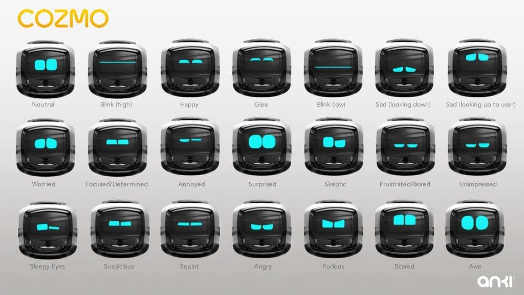Cozmo Robot expressions